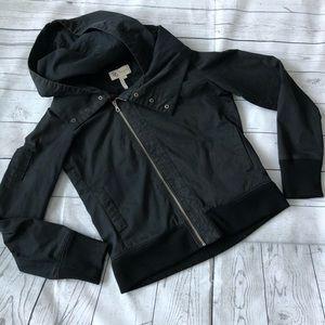 BCBG Moto Hoodie Zipper Jacket Coat